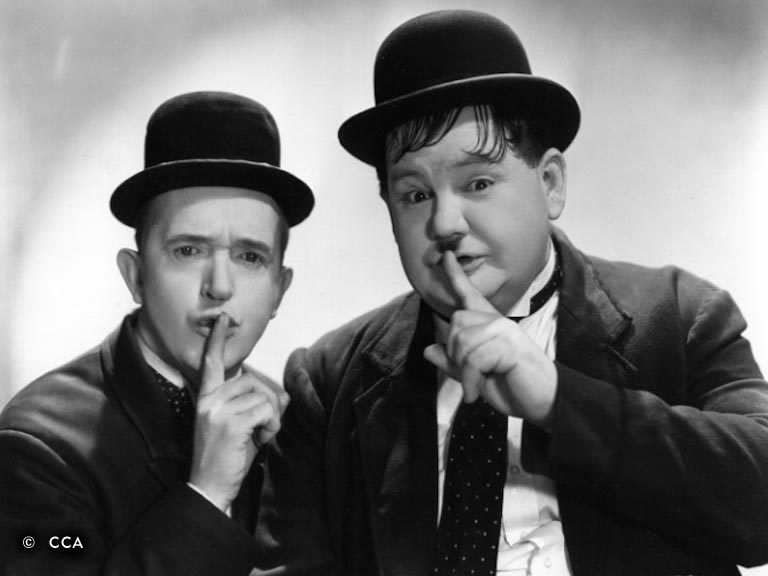 Laurel and Hardy Shh