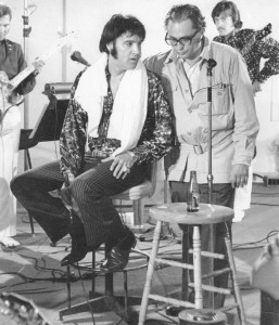 Elvis Presley and director Denis Sanders.