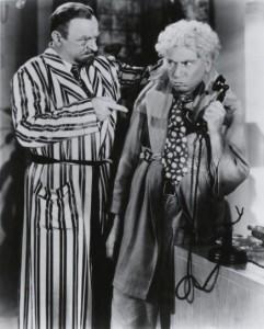 Sig Ruman and Harpo Marx.