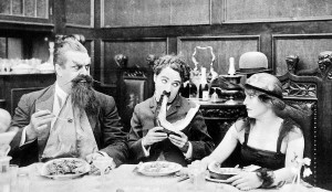 Eric, Charlie and Edna in The Count (1916).
