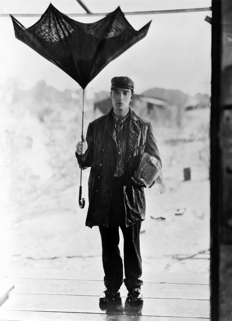 "1928: Buster Keaton in ""Steamboat Bill, Jr."""