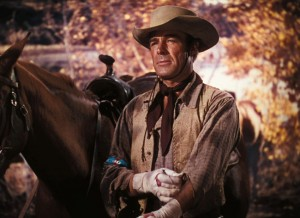 Randolph Scott as reformed outlaw Vance Shaw.